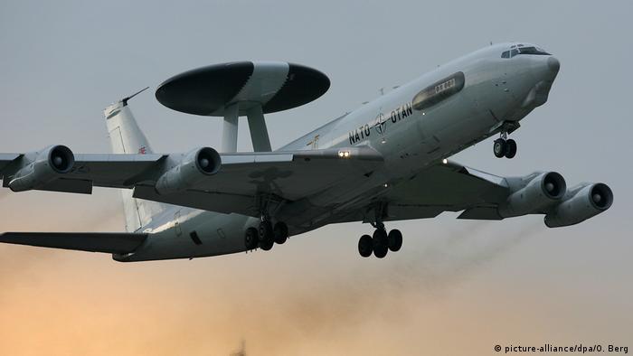 Avión AWACS de la OTAN.