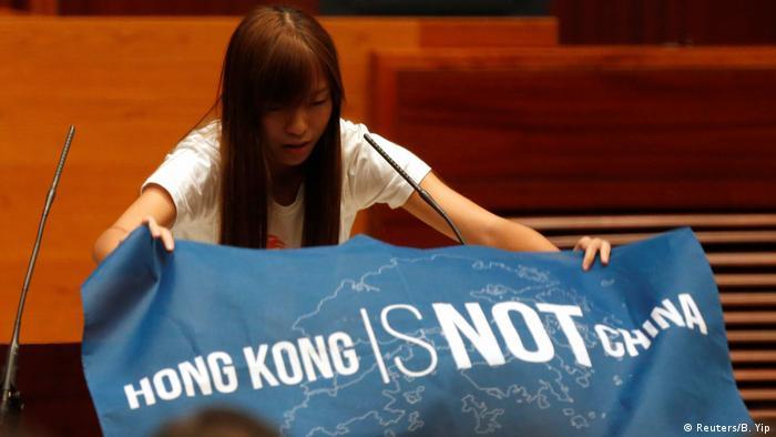 Hong Kong Legislativrat - Protest gegen China