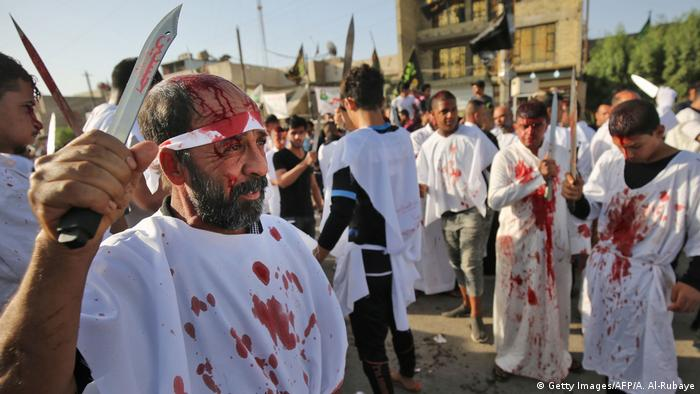 Bloodies men during an Ashura festival in Bagdad (Getty Images/AFP/A. Al-Rubaye)