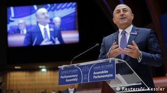 Parlamentarische Versammlung des Europarates in Straßburg - Außenminister Türkei, Mevlut Cavusoglu