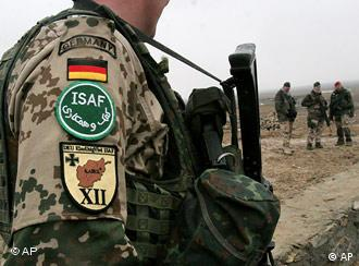 A German soldier serving with the NATO-led ISAF force in Afghanistan