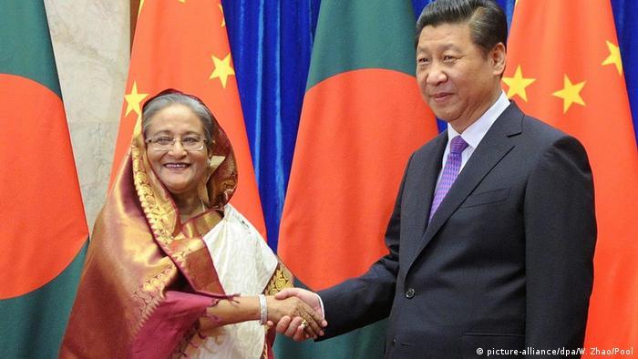 Bangladeschs Premierministerin Sheikh Hasina trifft Chinesischen Präsidenten Xi Jinping 2014
