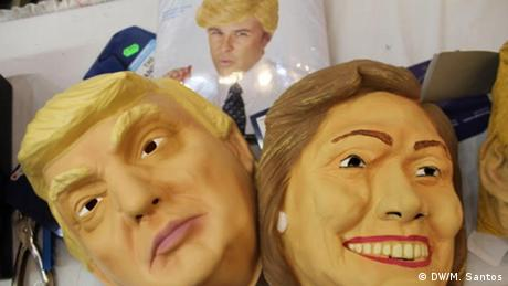 Masks of Trump and Hillary