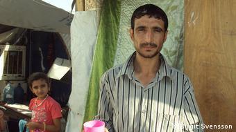 Bürger aus Mossul im Flüchtlingslager Razaliya