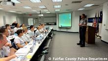 ***ACHTUNG: Verwendung nur zur mit den Rechteinhabern abgesprochenen Berichterstattung.*** Stichwort: Polizei-Ausbildung in den USA Copyright: Fairfax County Police Department, Sept. 2016