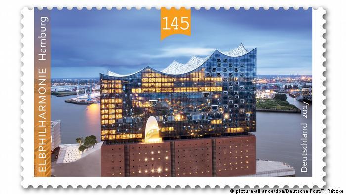 BdT Deutschland Briefmarke mit der Elbphilharmonie (picture-alliance/dpa/Deutsche Post/T. Rätzke)