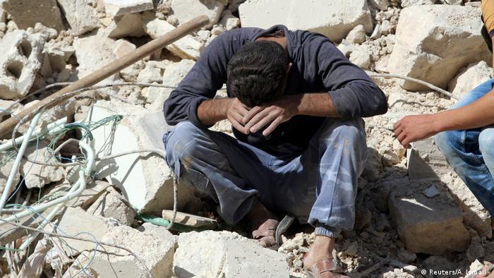 Syrien Trauer und Zerstörung in Aleppo