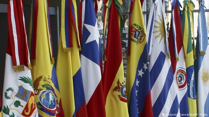Mercosur member flags