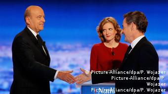 Frankreich Erste Fernsehdebatte Alain Juppe und Nicolas Sarkozy (Picture-Alliance/dpa/P. Wojazer Picture-Alliance/dpa/P. Wojazer Picture-Alliance/dpa/P. Wojazer Picture-Alliance/dpa/P. Wojazer Picture-Alliance/dpa/P. Wojazer Picture-Alliance/dpa/P. Wojazer)
