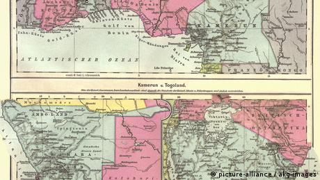 German colonies in Africa, map from 1902 (picture-alliance / akg-images)