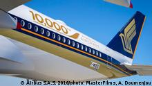 Singapore Airlines Auslieferung Airbus A 350 XWB