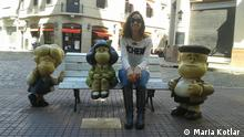 DW Gewinnerfoto Zuschaueraktion Welterfolge Wer hat das Bild gemacht/Fotograf?: Maria Kotlar Bildbeschreibung: Mafalda und ihren Freunden Susana und Manolito. Sie ist eine typische Comicfigur den argentinisches Zeichners Quino.