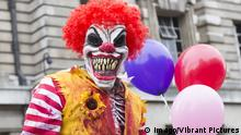 Unheimlicher Clown in London (Imago/Vibrant Pictures)