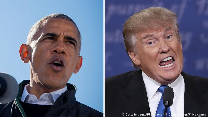 Bildkombo - Barack Obama und Donald Trump (Getty Images/AFP/J. Watson & Getty Images/W. McNamee)