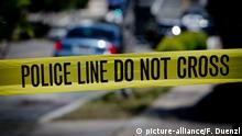 US Polizei Absperrband
