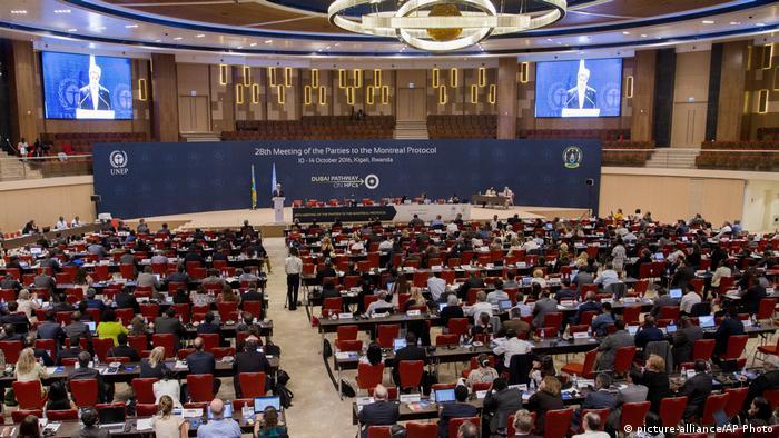 Ruanda Kigali internationales Treffen zum Klimawandel (picture-alliance/AP Photo)