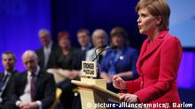 15.10.2016 SNP conference. First Minister of Scotland and the leader of the Scottish National Party Nicola Sturgeon speaks at the SNP conference in Glasgow. Picture date: Saturday October 15, 2016. See PA story POLITICS SNP. Photo credit should read: Jane Barlow/PA Wire URN:28921419 |