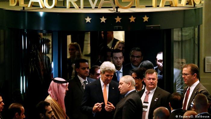 Schweiz Lausanne - Schweiz Sergej Lawrow und John Kerry beraten in Lausanne über den Syrien-Krieg