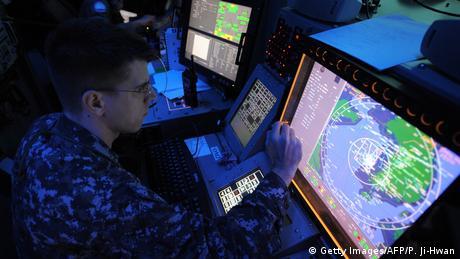 US Luftabwehr Kontrollraum Marineübung mit Südkorea (Getty Images/AFP/P. Ji-Hwan)