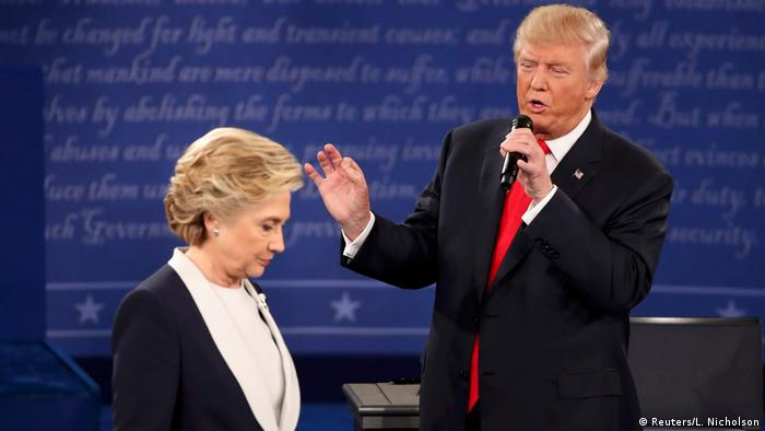 US TV Debatte Trump vs Clinton (Reuters/L. Nicholson)