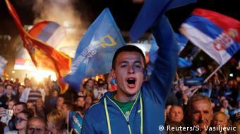 Montenegro Wahlkampf Demokratische Front (DF) (Reuters/S. Vasiljevic)