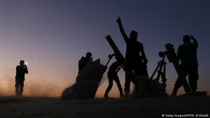 Syrien Kampf um Dabiq FSA Einheiten (Getty Images/AFP/N. Al.Khatib)