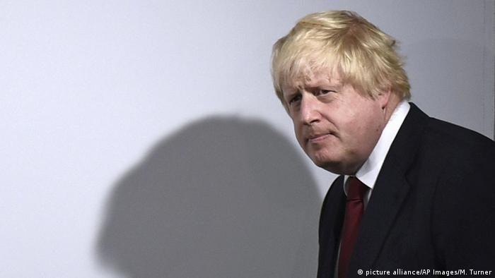 Boris Johnson arrives for a press conference in London during the EU referendum campaign in 2016 (picture alliance/AP Images/M. Turner)