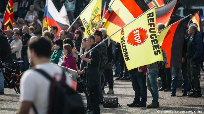 Deutschland Pegida-Demo in Dresden