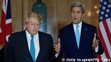 Großbritannien USA Besuch US-Außenminister John Kerry - Boris Johnson in London
