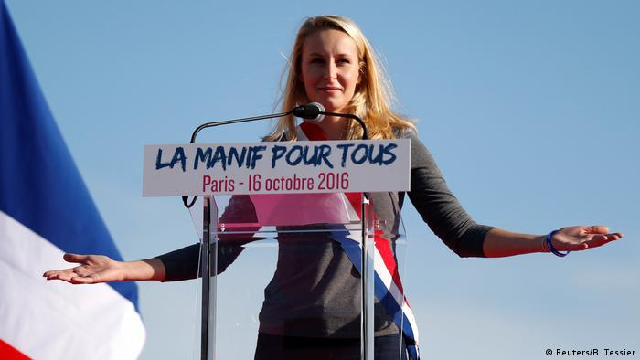 Frankreich Paris Demonstration gegen Homo-Ehe - Front National, Marion Marechal Le Pen (Reuters/B. Tessier)