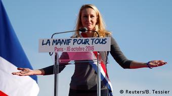 Frankreich Paris Demonstration gegen Homo-Ehe - Front National, Marion Marechal Le Pen