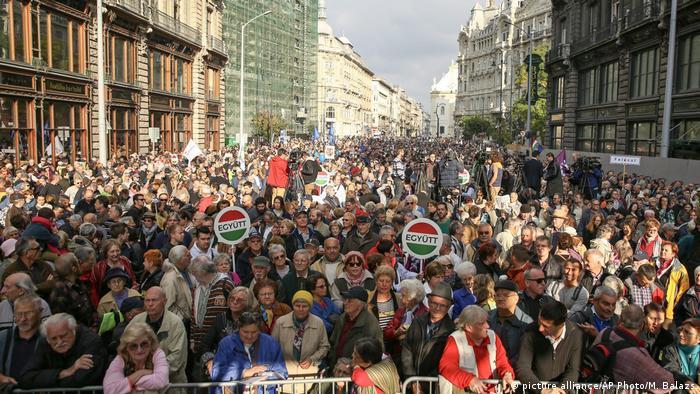 Ungarn Demo für Pressefreiheit in Budapest