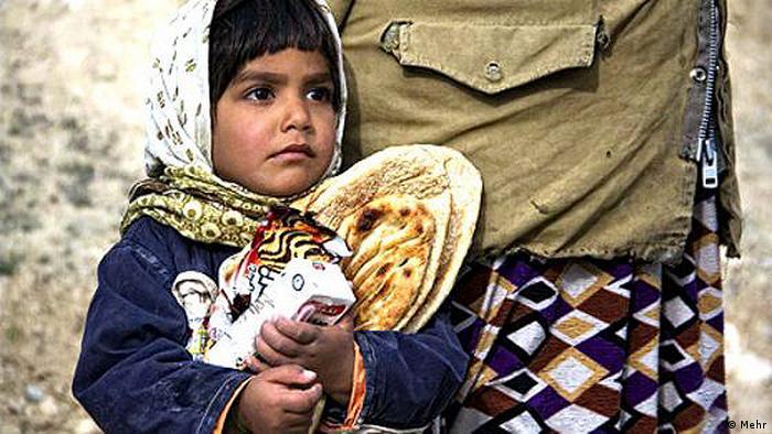 Iran Hunger Ernährung Mädchen