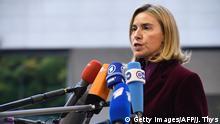 Luxemburg Federica Mogherini beim EU Außenministertreffen