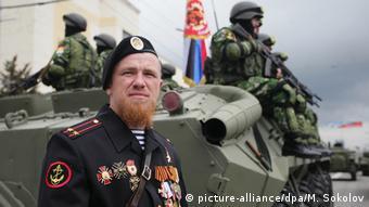 Моторола во время репетиции военного парада в Донецке (фото из архива)