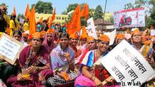 Demonstration der Maratha-Kaste in Kolhapur Indien