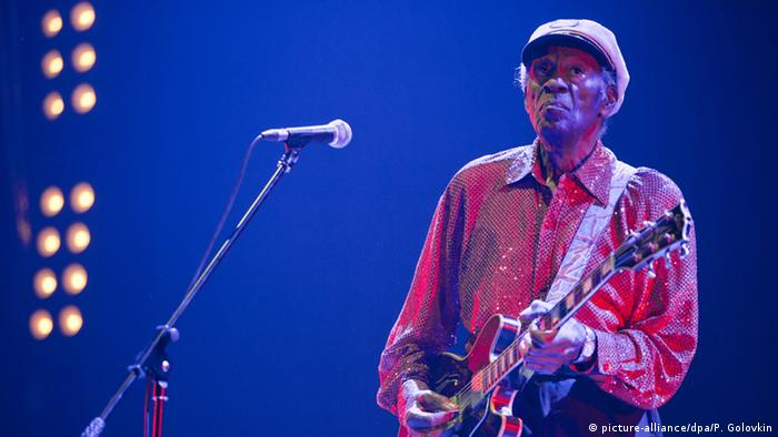 Chuck Berry conzert in Moskow (picture-alliance/dpa/P. Golovkin)
