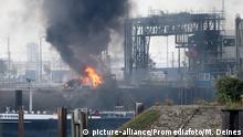 Großbrand bei der BASF Ludwigshafen am 17.10.2016 Foto: M. Deines / PROMEDIAFOTO   Verwendung weltweit