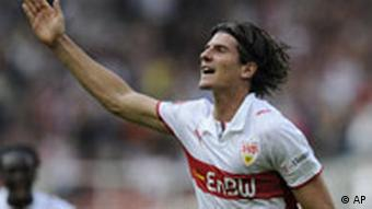 Bundesliga Stuttgart Hannover Mario Gomez nach Treffer