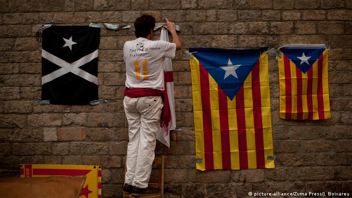 'La Diada' Catalonia National Day 2016 (picture-alliance/Zuma Press/J. Boixareu)