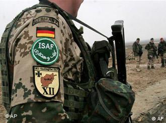 German soldiers standing guard in Afghanistan