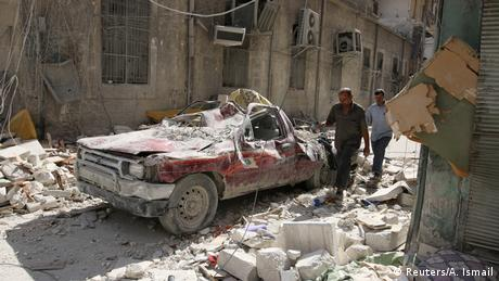 Syrien Bürgerkrieg Zerstörung in Aleppo (Reuters/A. Ismail)