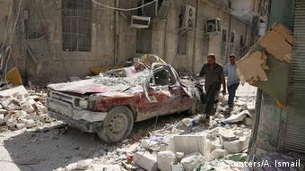 Alep după bombardamente