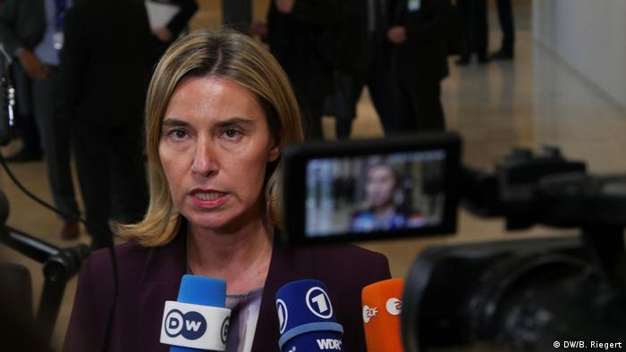 Federica Mogherini in Luxemburg