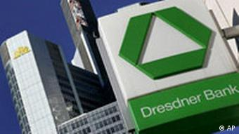 Deutschland Dresdner Bank und Commerzbank in Frankfurt