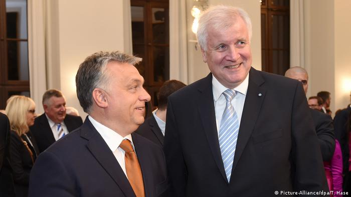 Viktor Orban and Horst Seehofer on October 17, 2016, in Munich.