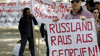 Demonstrant (Quelle: AP)