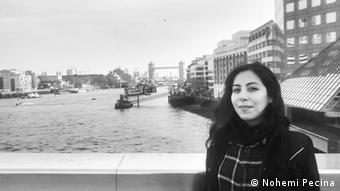 La diseñadora mexicana de moda Nohemi Pecina en Londres.