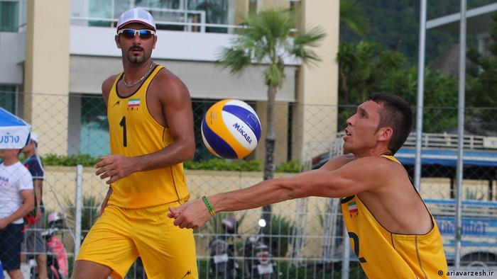 Iran Beachvolleyball Bahman Salemi und Saber Houshmand (ariavarzesh.ir)