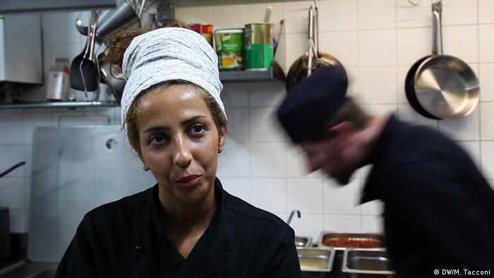 Hiba Al Najjar in the kitchen at Habibi & Hawara